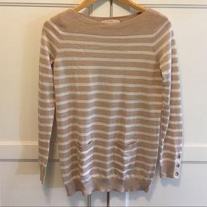 Banana Republic striped tunic sweater S